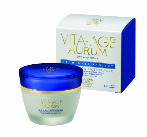 Lungavita Vita Age Aurum Stems Regenerating Face Cream, 1.7 Fluid Ounce(Pack of 2)