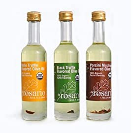 da Rosario 100% Organic Truffle Olive Oils - Large Set of 3 Bottles