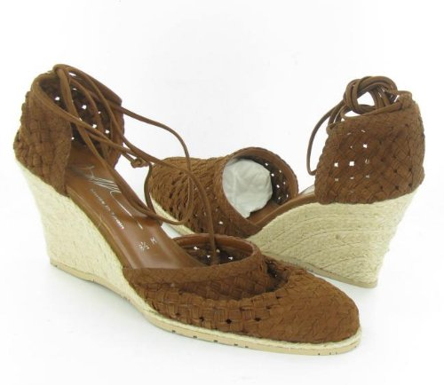 DONALD J PLINER Qamra Saddle Wedge Shoes Womens 8.5 M