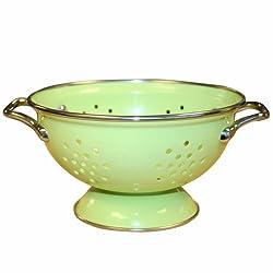 Calypso Basics, 18901, 1 Quart powder coated Colander, Lime