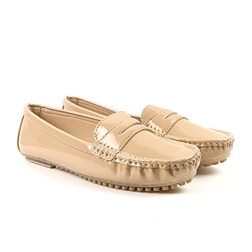 Carlton London Mabel Loafer Shoe-Taupe UK 4