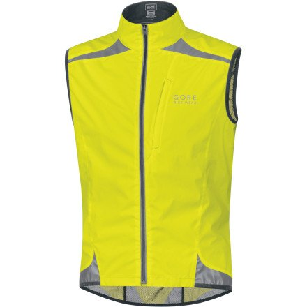 Gore Running Wear Gore Running Wear Men's Visibility Active Shell Vest, Neon Yellow, Small
