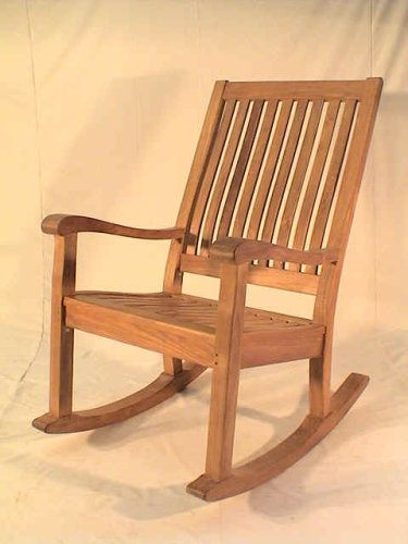 Del-Amo Slat Back Rocking Armchair - Unfinished