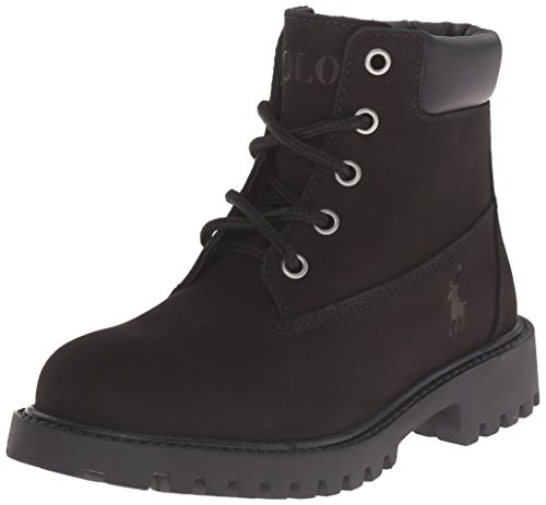 Polo Ralph Lauren Kids Angello Fashion Boot (Little Kid/Big Kid), Black, 3 M US Little Kid