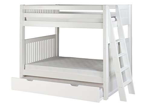 White Wooden Bunk Beds 1474 front