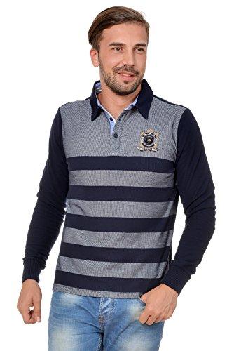Sweat Maglietta T-Shirt Polo Felpa manica lunga per uomo di M.Conte Olderico blu M