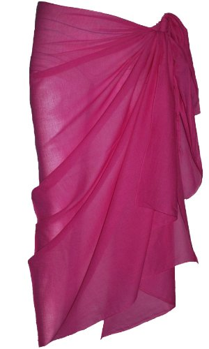 Plain Fuschia Cotton Sarong