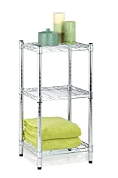 Honey-Can-Do SHF-02217 3-Tier Steel Wire Shelving Tower, Chrome, 14 by 15 by 30-Inch by Honey Can Do HK Limited