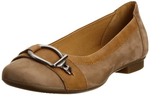 Gabor Women's Virginia Nubuck Corda/Caramello Ballet 44.114.12 4 UK