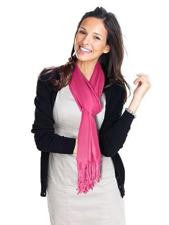 Lauren Solid Color Stunning Pashmina (Hot Pink)