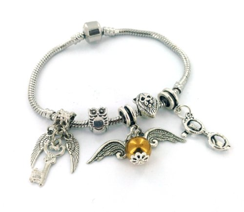 Harry Potter/Golden Snitch Inspired Charm Bracelet - Gift Boxed - 20cm Large