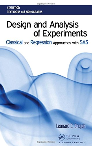 Design and Analysis of Experiments: Classical and Regression Approaches with SAS (Statistics:  A Series of Textbooks and Monographs)