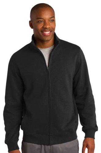 Sport-Tek Men'S Full Zip Sweatshirt,Large,Black front-620731