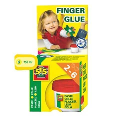 New SES Children's Finger Glue - Safe - for Ages 2-6 - 150ml Paste - Gluten-Free
