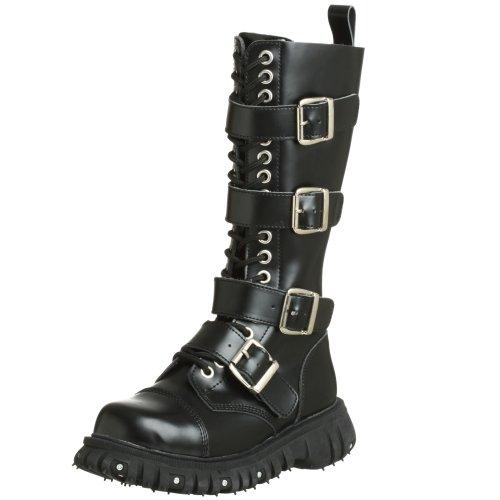 T.U.K. Unisex A6072 18-Eye 4-Strap Zipper Boot