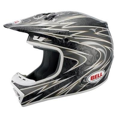 Best Bell Powersports 2011 MX-1 Bones Off Road/Motocross Bike Helmet - Black/Silver (L) With Low Price.