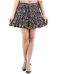 Sunshine Enterprises Women's Cotton Wrap Skirt (Black) - B01HELPL56