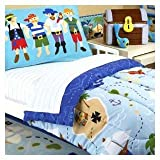 Olive Kids Pirates Cotton Printed Sheet Set, Toddler