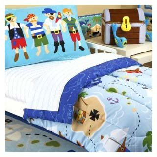 Olive Kids Pirates Cotton Printed Sheet Set, Toddler