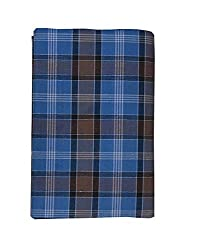 JIS Boutique men's Cotton Checks Lungi (JIS LUNGI F01_Blue)