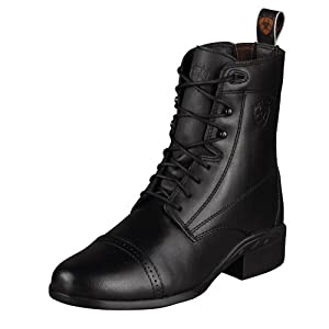 Ariat Ladies Heritage III Lace Black Paddock Boots - Size:10B Color:Black