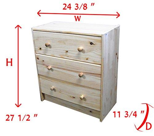 Natural Pine Dresser front-806618