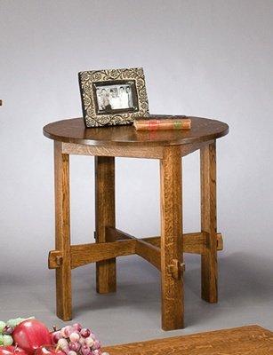 Intercon American Craftsman Solid Quarter Sawn Oak Round End Table