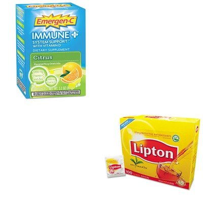 Kitala100008Lip291 - Value Kit - Emergen-C Immune Formula (Ala100008) And Lipton Tea Bags (Lip291)