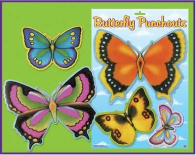 Butterfly Punchouts Party Accessory (1 count) (7/Sh)