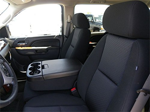Durafit Seat Covers CH19-L7/L1 Chevy Silverado Crew Exact Fit 40/20/40 Exact Covers for Front and Back Seats in Gray Leatherette with Black Inserts (Middle Seat Truck compare prices)