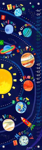 Oopsy Daisy Solar System Growth Chart by Jill McDonald, 12 by 42-Inch