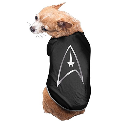 Black Star Trek Platinum Style Pet Dog T-shirt Coat