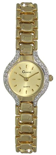 Geneve 14K Gold Diamond Womens Watch W06020-Y
