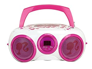 Digital Blue Barbie Boombox White/Pink