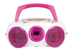 Digital Blue Barbie Boombox White/Pink