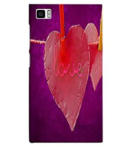 PrintVisa Romantic Love 3D Hard Polycarbonate Designer Back Case Cover for Xiaomi Redmi Mi3