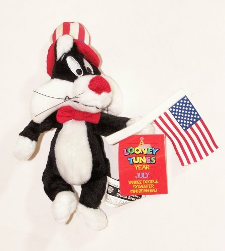 "A Looney Tunes Year: 7"" Yankee Doodle Sylvester Mini Bean Bag (July 2000) - 1"