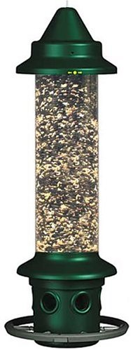 Bird Feeder: Brome 1024 Squirrel Buster Plus Wild Bird Feeder with Cardinal Perch Ring
