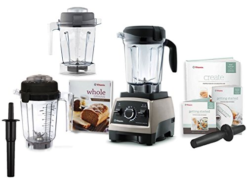 Vitamix Professional Series 750 Brushed Stainless Steel 64 Ounce Blender Set with 32 Ounce Dry Container and Bonus 48 Ounce Wet Container (Vitamix 750 compare prices)