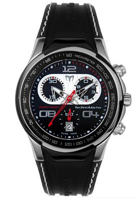 Men's Diva Dimitri II Chronograph Black Rubber