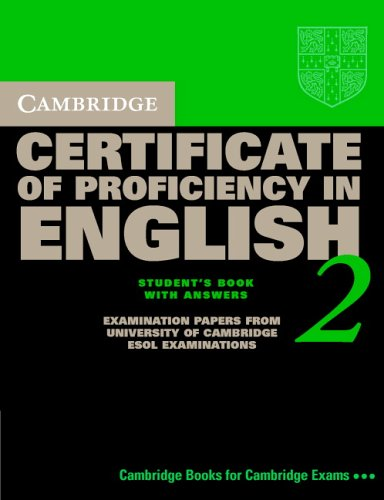 cambridge certificate of proficiency in english 2 student