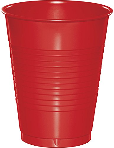 Creative Converting Value Pack Plastic Cups, Classic Red, 50-Count