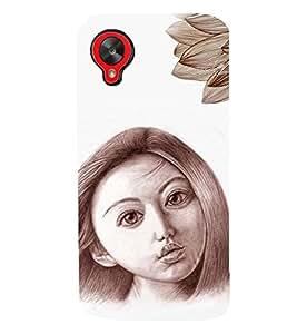 PRINTSWAG GIRL WITH FLOWER Designer Back Cover Case for LG GOOGLE NEXUS 5