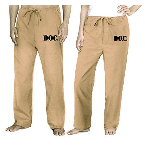 Prison Costume Jail Khaki Pants Jail Prisoner Ladies Or Men front-1024913