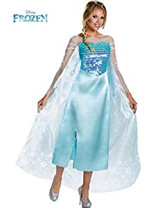 Disguise Women's Disney Frozen Elsa Deluxe Costume by Disguise Costumes