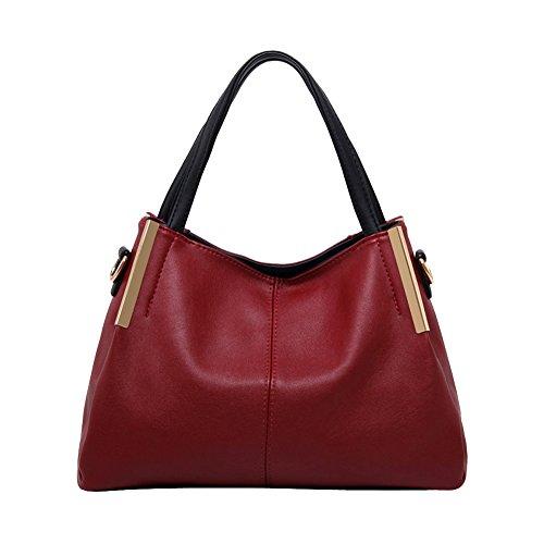Borsa a tracolla borsa europea nuove signore autunno inverno Messenger Bag spaziosa borsa da viaggio (rosso)