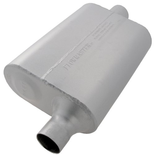 Flowmaster 942041 40 Delta Flow Muffler - 2.00 Offset IN / 2.00 Center OUT - Aggressive Sound (Flowmaster 40 Exhaust System compare prices)