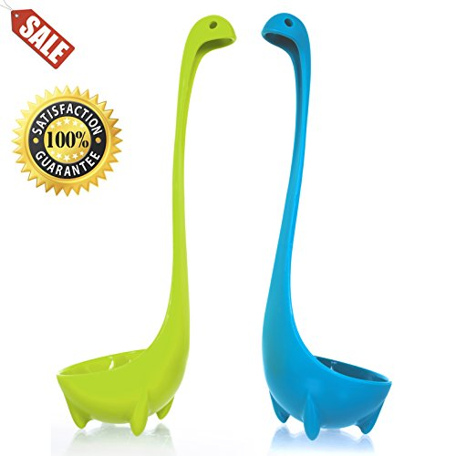 Wishstone Nessie Soup Ladle Set Of 2, Food Safe, 100% Nylon