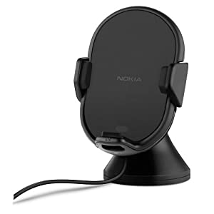 Nokia CR-201 Universal Wireless Qi Charging In-Car Holder for Lumia 820/920/925/930/1020/1520 - Black