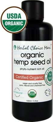Herbal Choice Mari Organic Hemp Seed Oil 100ml/ 3.4oz Bottle